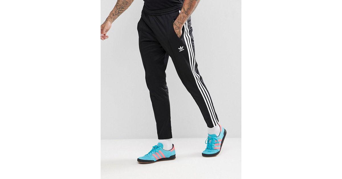 2a44801b3b6f Lyst - adidas Originals Adicolor Beckenbauer joggers In Skinny Fit In Black  Cw1269 in Black for Men