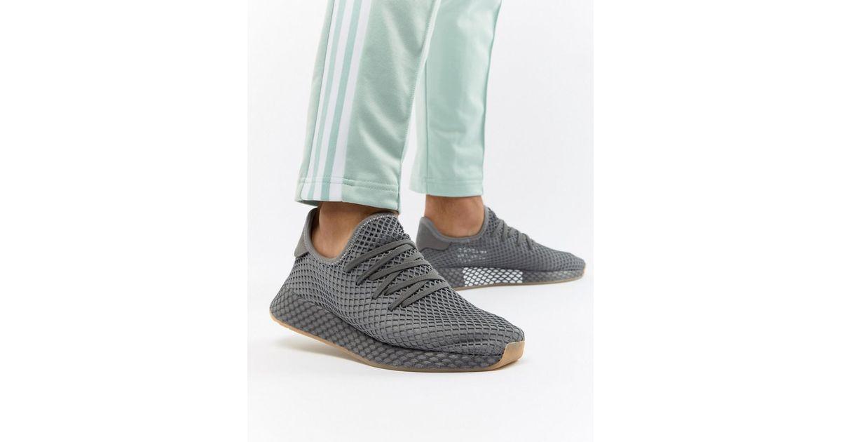 bae39f0ad16aa Lyst - adidas Originals Deerupt Runner Sneakers In Gray Cq2627 in Gray for  Men