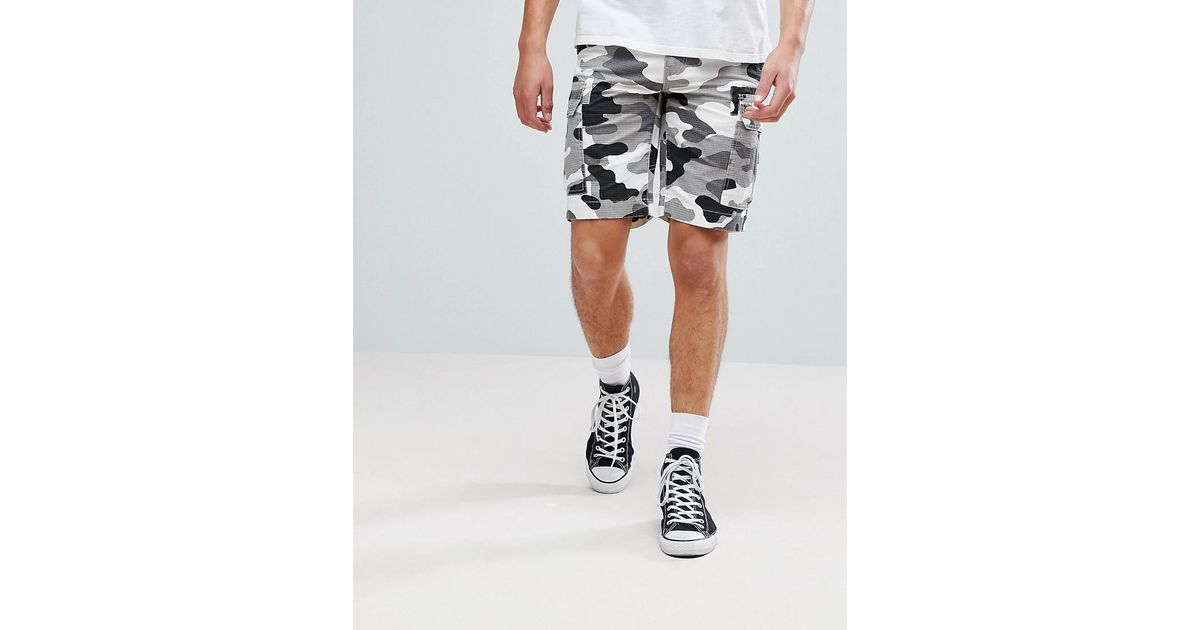 5ba86a330d Dickies New York Cargo Shorts In White Camo in Gray for Men - Lyst