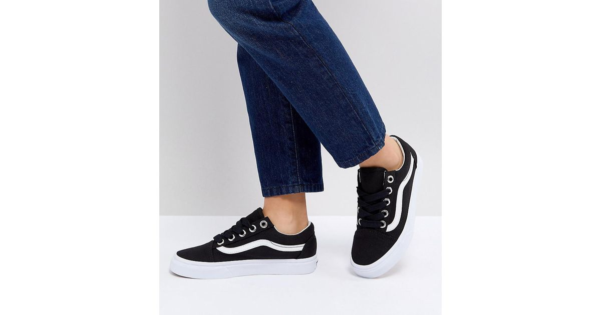 bd5336a3017136 Vans Design Assembly Old Skool Trainers With Bold Laces in Black - Lyst