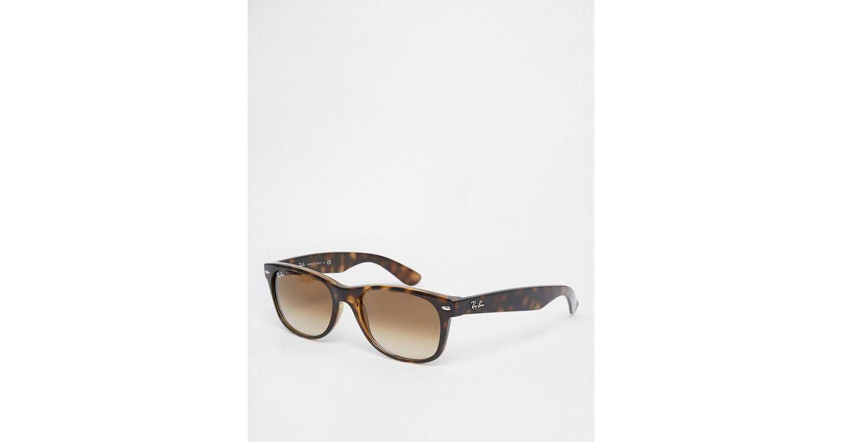 641a79787f ... australia ray ban new wayfarer sunglasses 0rb2132 in brown for men lyst  a7011 dd74e ...