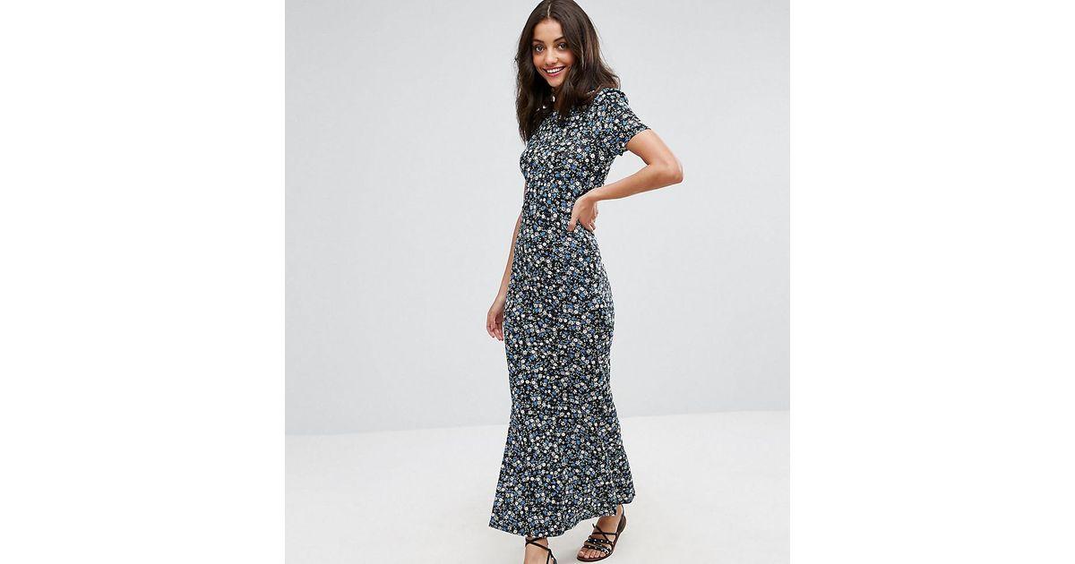 e2edbaea3c0 Lyst - ASOS City Maxi Tea Dress In Floral Print