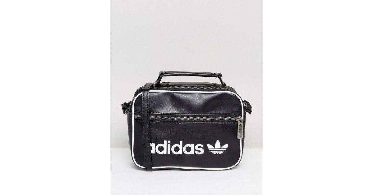 57e3af720f83 Lyst - adidas Originals Originals Vintage Mini Airliner Bag In Black in  Black