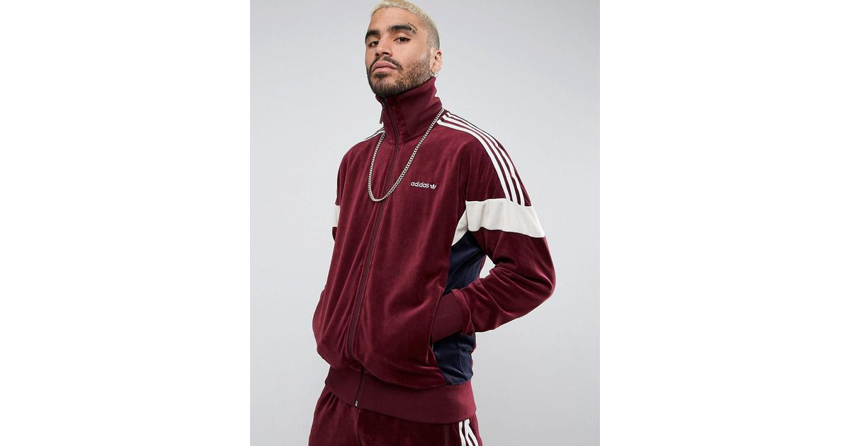 huge selection of 013db 26337 Lyst - adidas Clr84 Velour Track Jacket In Red Bs4669 in Red for Men - Save  6%