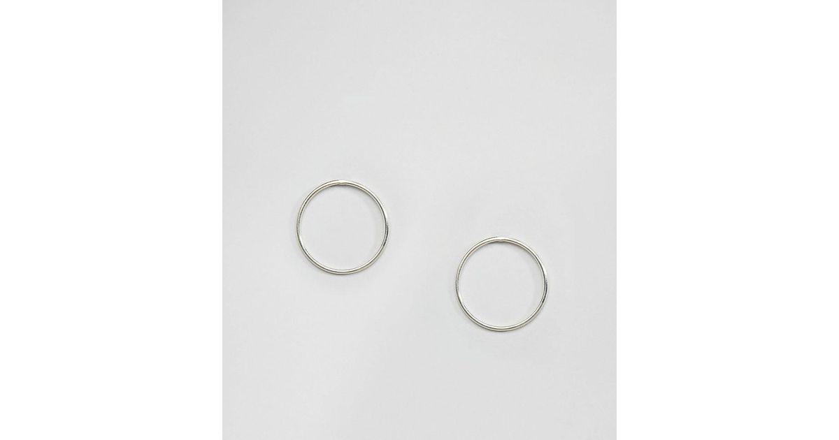 Lyst Kingsley Ryan Sterling Silver Open Circle Stud Earrings In Metallic