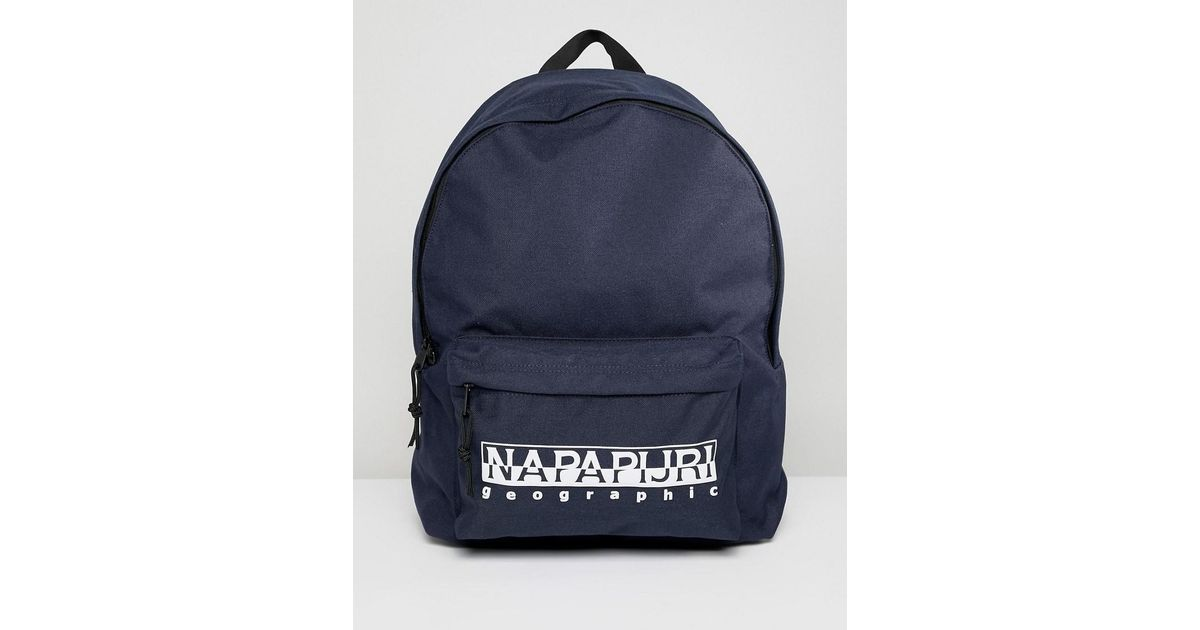 Napapijri Hala Logo Backpack With Taping In Navy Tribe Pack in Blue for Men  - Lyst