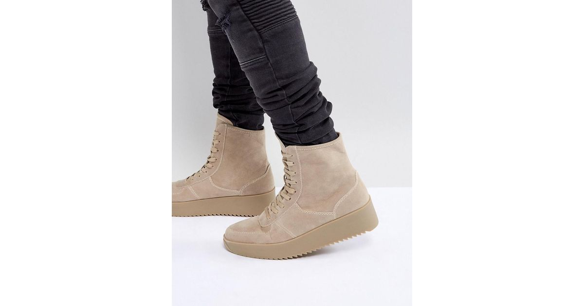big sale online ASOS Trainers In Stone With Chunky Sole pay with visa online tumblr edSnwM