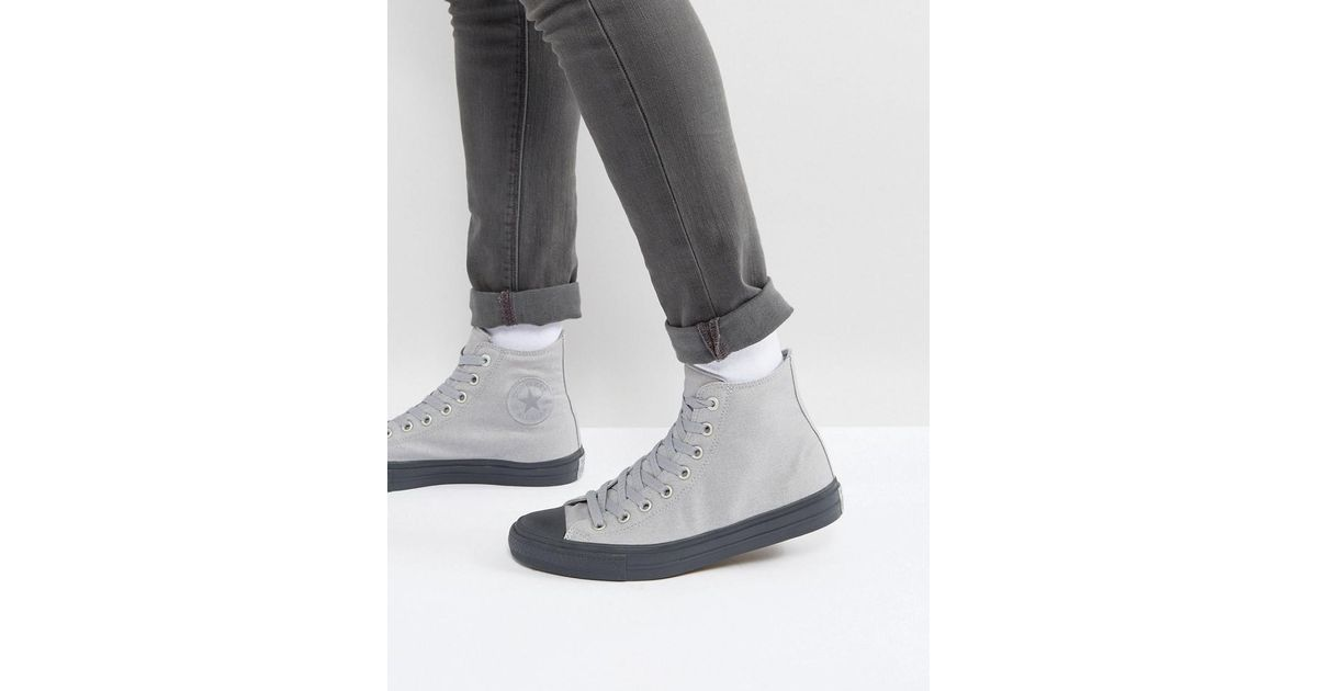6a61fccff967 Lyst - Converse Chuck Taylor All Star Ii Hi Sneakers In Gray 155702c in Gray  for Men