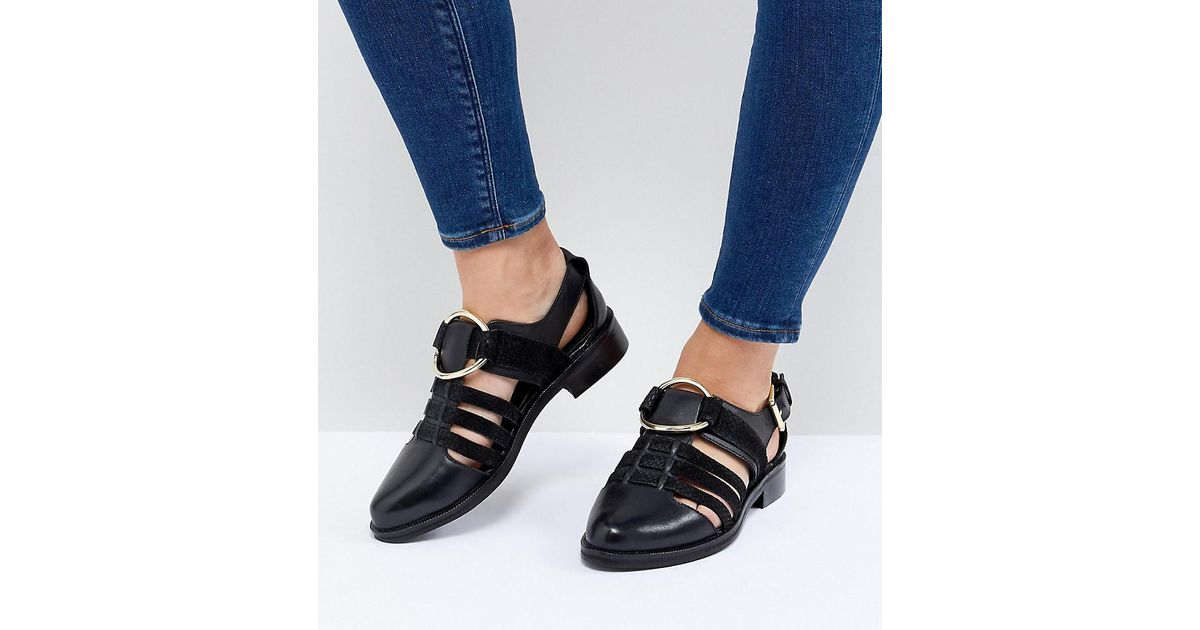 ASOS DESIGN Virgo Wide Fit Flat Shoes HGuogz