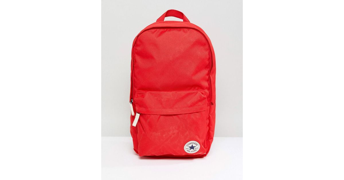 Lyst - Converse Chuck Taylor Patch Backpack In Red in Red for Men - Save 25% 48fcb5f5bc