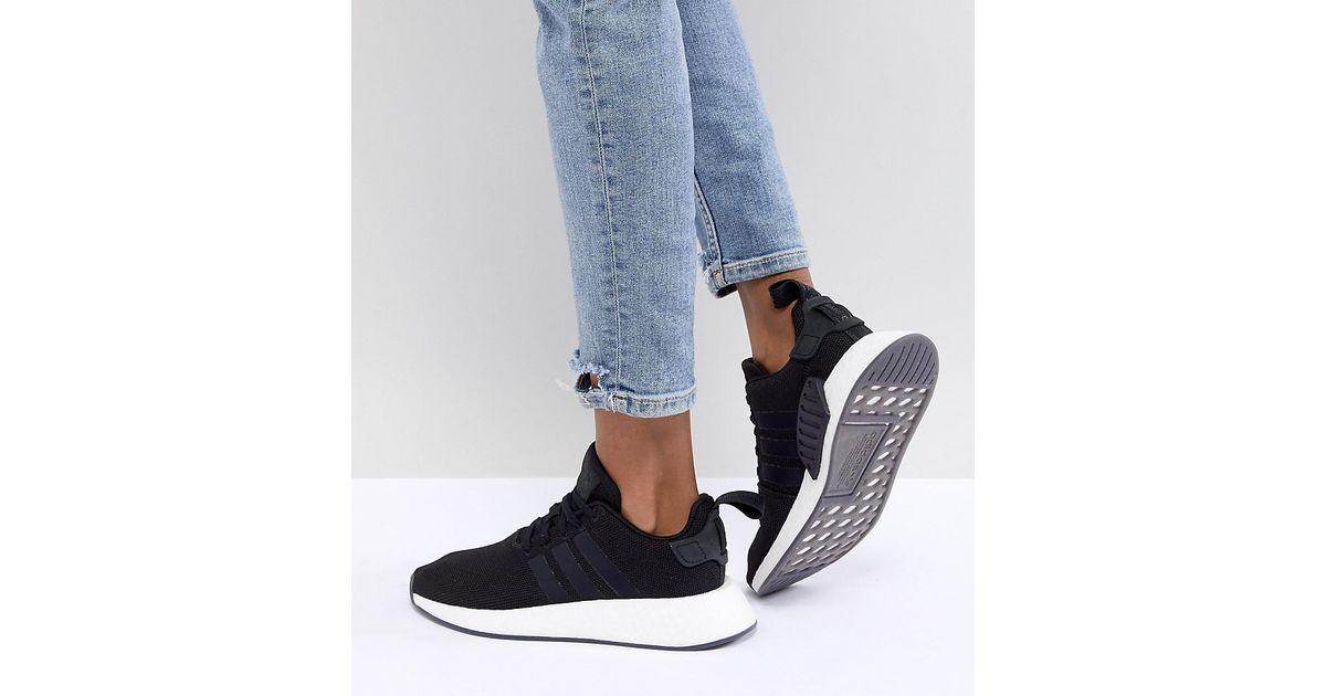 03c65e705ad1c Lyst - adidas Originals Nmd R2 Sneakers In Black in Black
