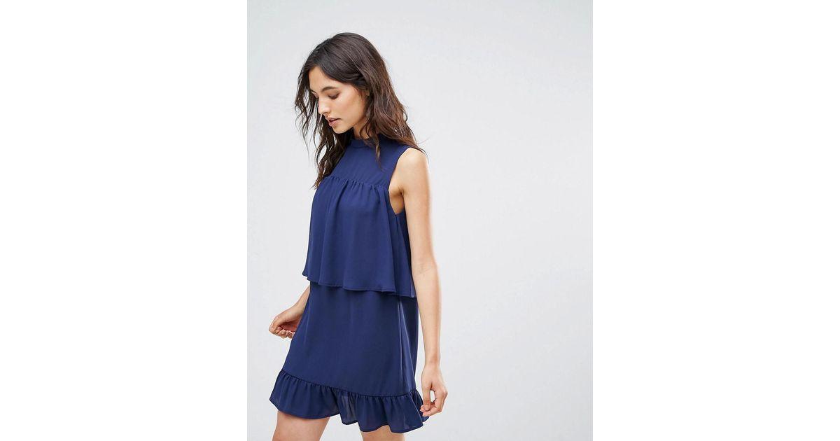 7f212fdb1c Lyst - Madam Rage Frilled Layer Dress in Blue
