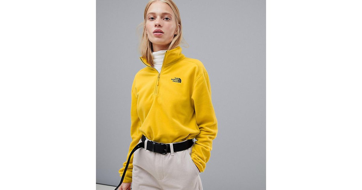 b0d6e631ba16 The North Face Exclusive To Asos 100 Glacier 1 4 Zip Fleece In Yellow in  Yellow - Lyst