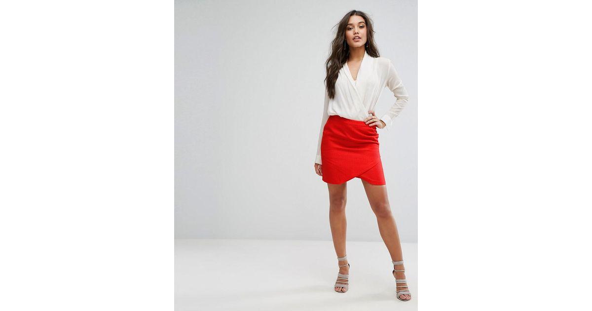 8ddf1277c SuperTrash Selena Mini Skirt in Red - Lyst