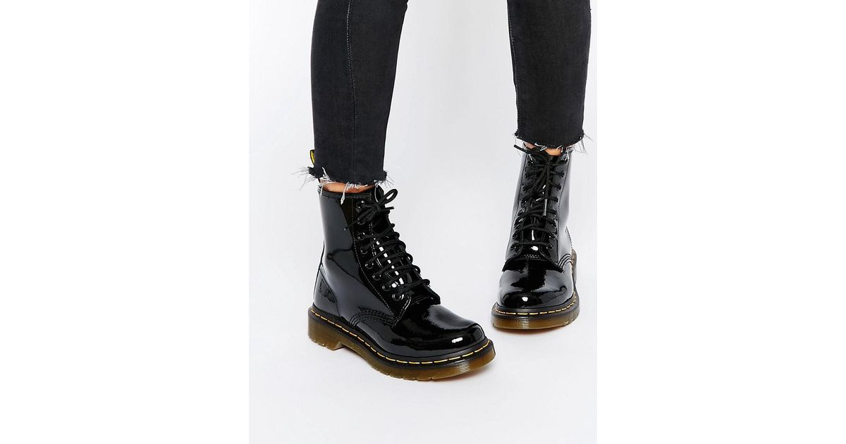 10c0c8387306 Dr. Martens Modern Classics 1460 Patent 8-eye Boots in Black - Lyst
