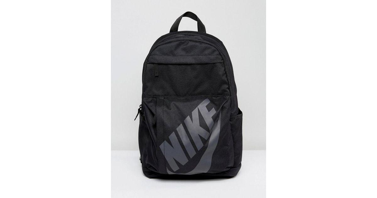 582bd6e47a7a Nike Nike Logo Backpack In Black Ba5381-010 in Black for Men - Lyst