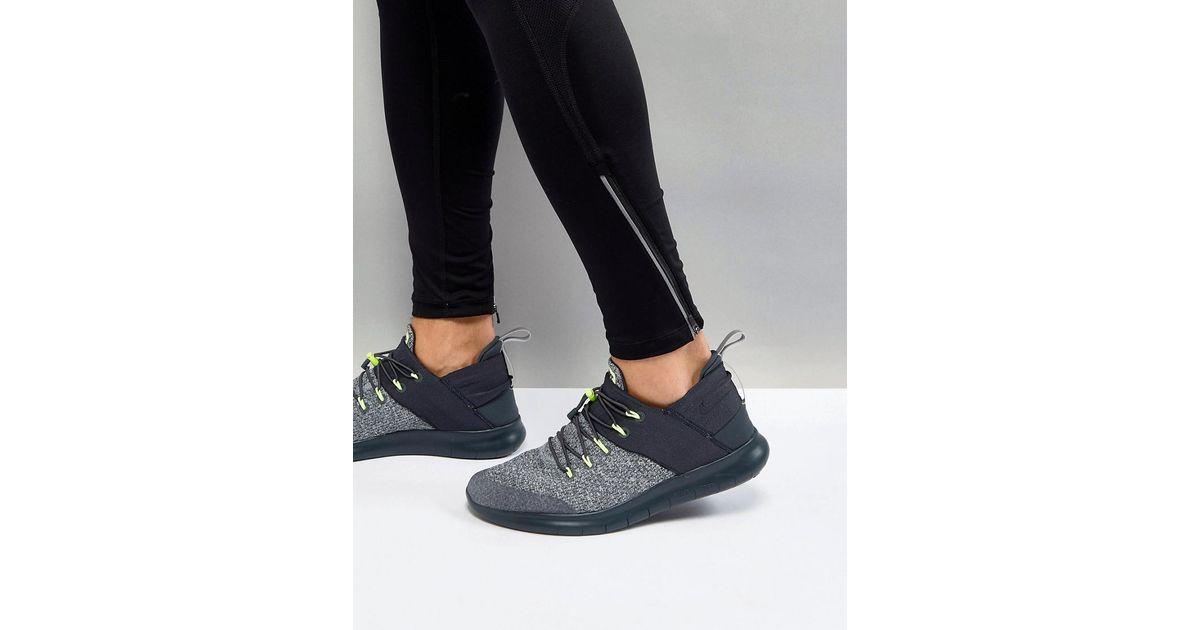 Nike Gray Free Run Cmtr Heritage Sneakers In Grey 922910 001 for men