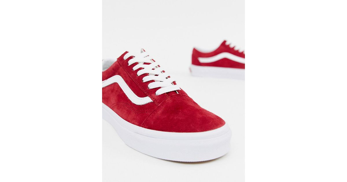 e087aba37f20c4 Vans Women s Red Old Skool Sneakers in Red - Lyst