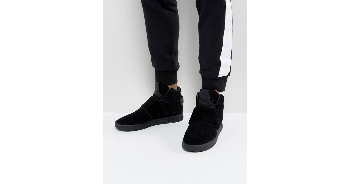 Lyst - adidas Originals Tubular Invader Strap Sneakers In Black By3632 in  Black for Men a1769b1f2