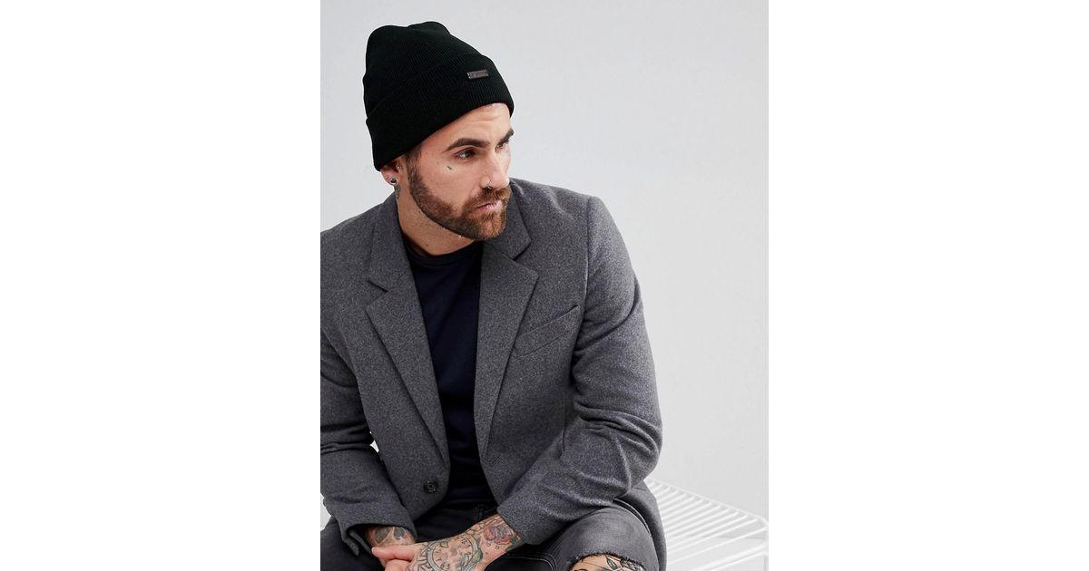 510c8a5a463 Ben Sherman Beanie Hat In Black in Black for Men - Lyst