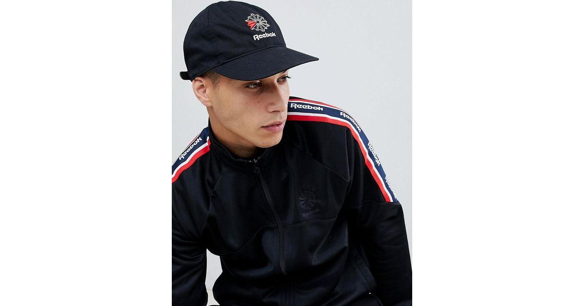 8b257e71364b0 Reebok Classic Logo Cap In Black Dh3570 in Black for Men - Lyst