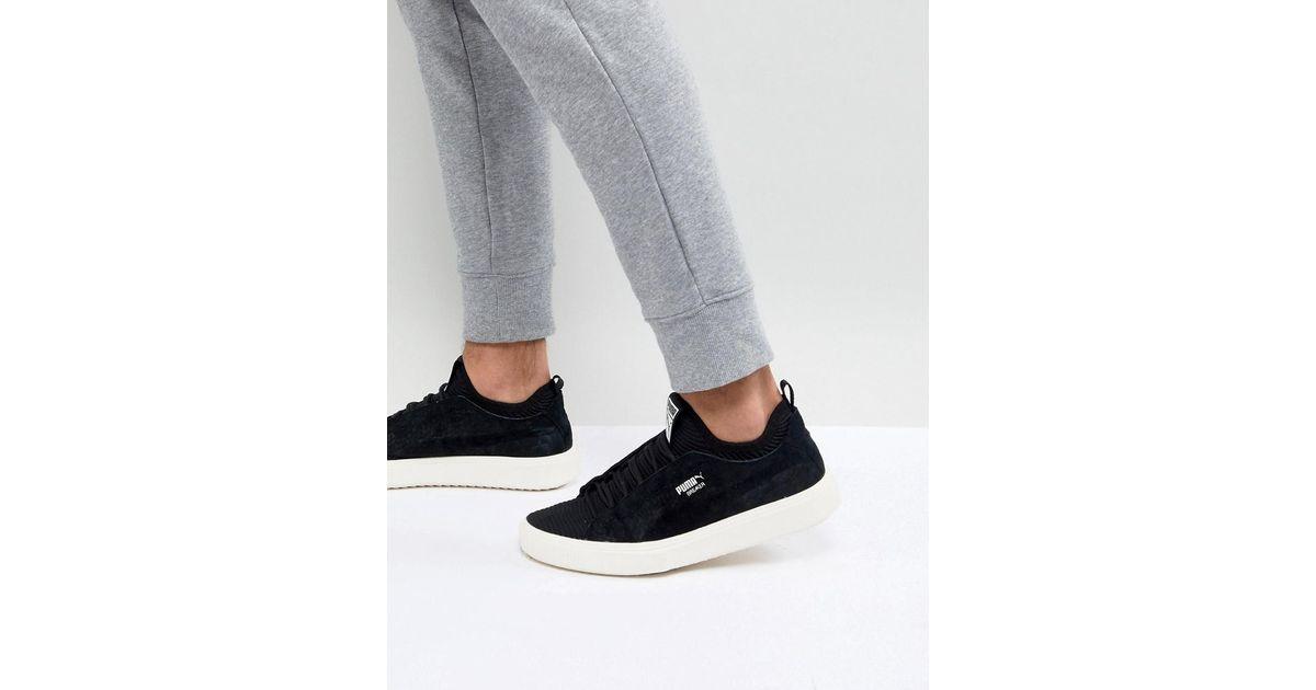 434f1fe61548 Lyst - PUMA Breaker Knit Sunfaded Trainers In Black 36534501 in Black for  Men