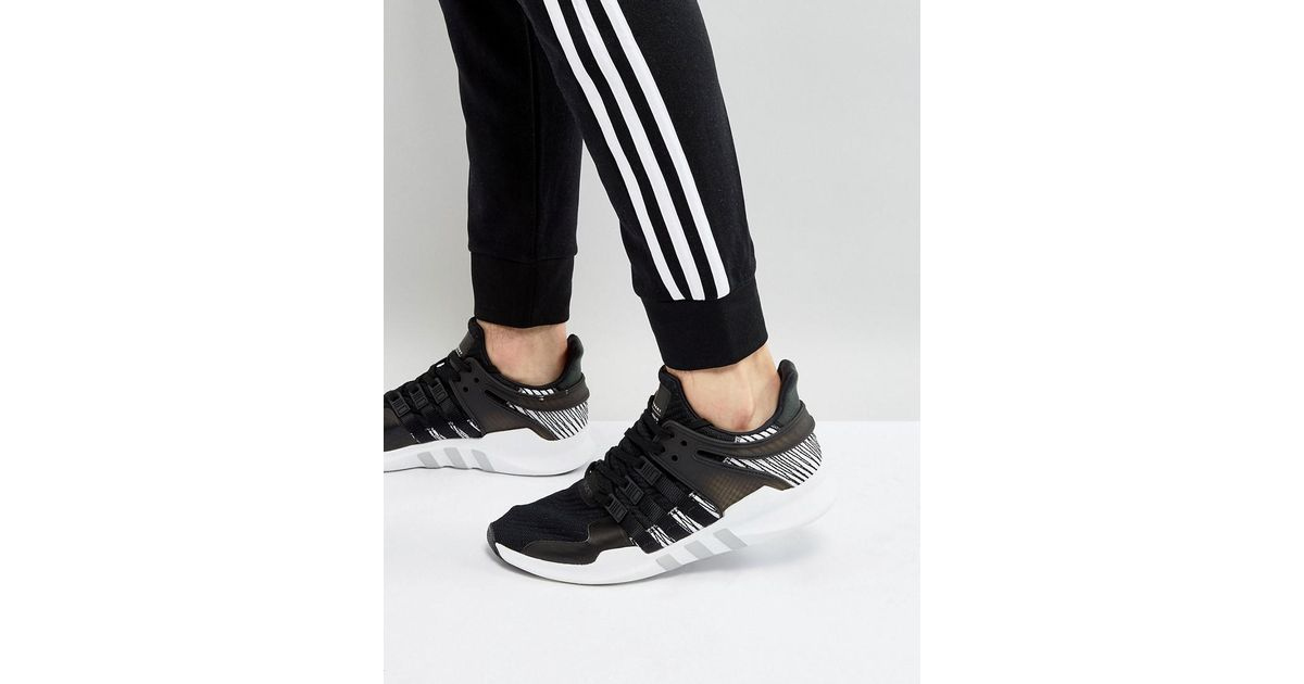 promo code 17459 ba315 Adidas Originals - Eqt Support Adv Trainers In Black By9585 for Men - Lyst