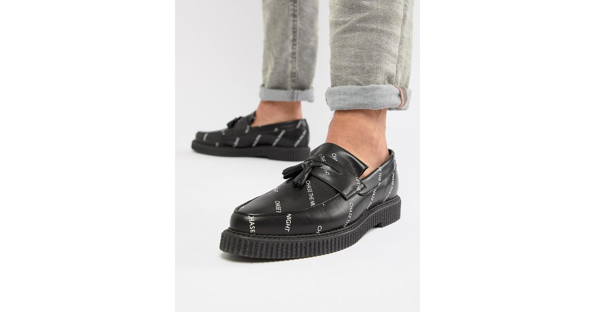 Leather Leather Leather In Design With Asos Creeper Creeper Creeper Creeper And Chase Black Lyst Loafers SBA6Aw