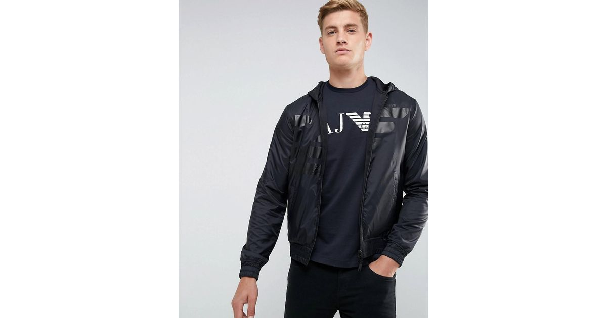 Armani Jeans Mixed Fabric Large Eagle Zip Through Hooded Sweat in Gray for  Men - Lyst 0b7c044caafd