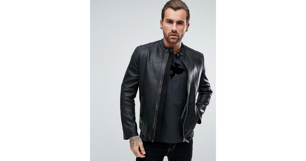 bb9410fd16a Hugo Boss Black Leather Jacket - Equata.Org The Best Jacket 2018