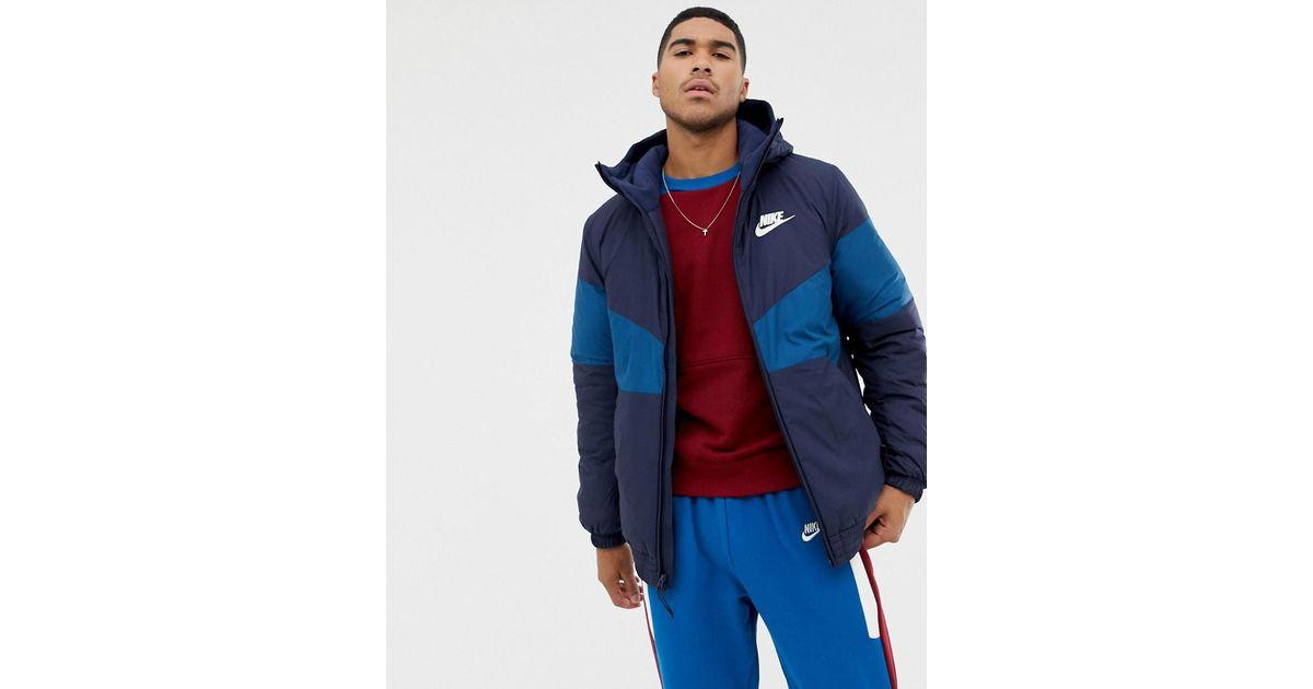 Nike Padded Windbreaker In Navy 928861-451 in Blue for Men - Lyst 77a64a3bb5d