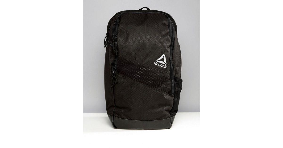 Reebok Training 24l Backpack In Black Bq4775 in Black for Men - Lyst