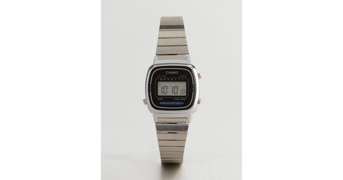 Lyst G Shock La670wea 1ef Digital Bracelet Watch In Silver Metallic For Men