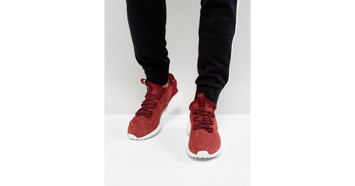 a1bd1fee6879c5 Lyst - adidas Originals Tubular Doom Sock Primeknit Sneakers In Red By3560  in Red for Men