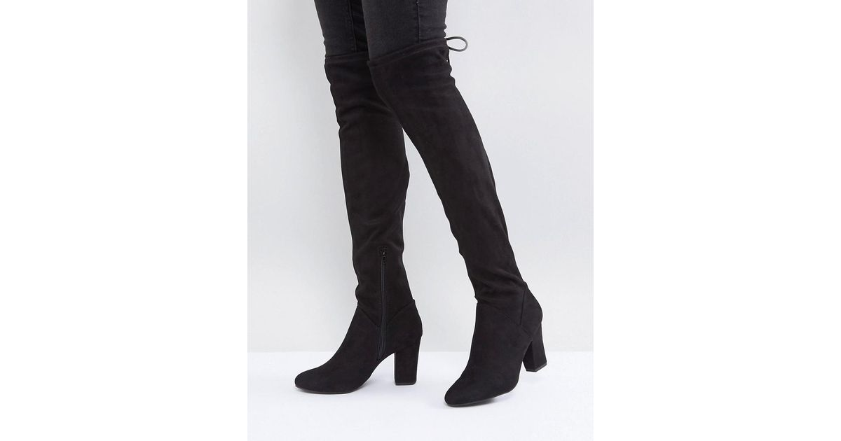 6b219c049d0 Lyst - Call It Spring Culkin Over The Knee Boots in Black