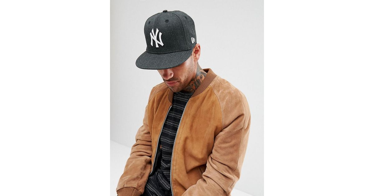 Lyst - KTZ 59fifty Fitted Cap Ny Yankees Seasonal Heather in Black for Men 6464b02cd7d7