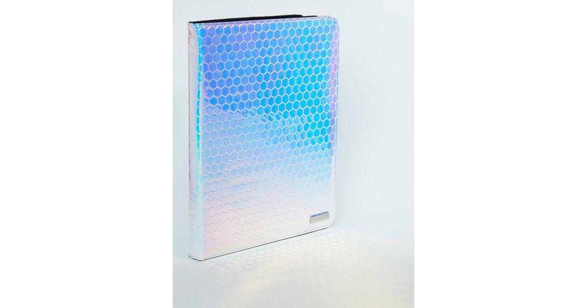 best cheap e48da 5a07d Skinnydip London Blue Honeycomb Iridescent Ipad Case