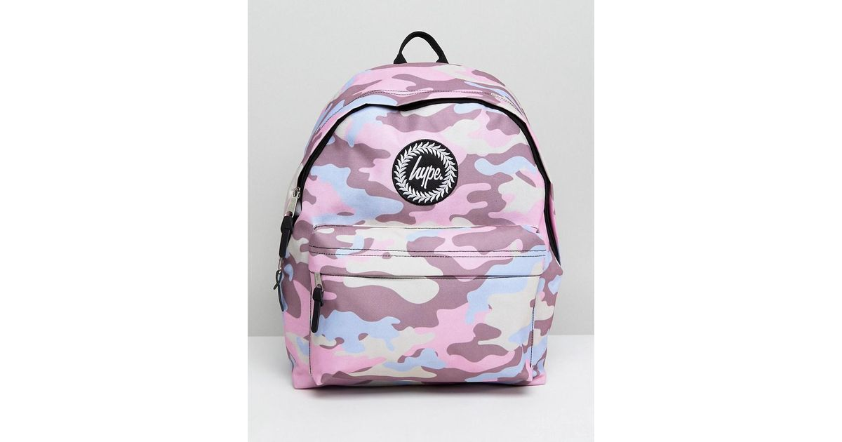 Lyst - Hype Pink Camo Backpack in Pink