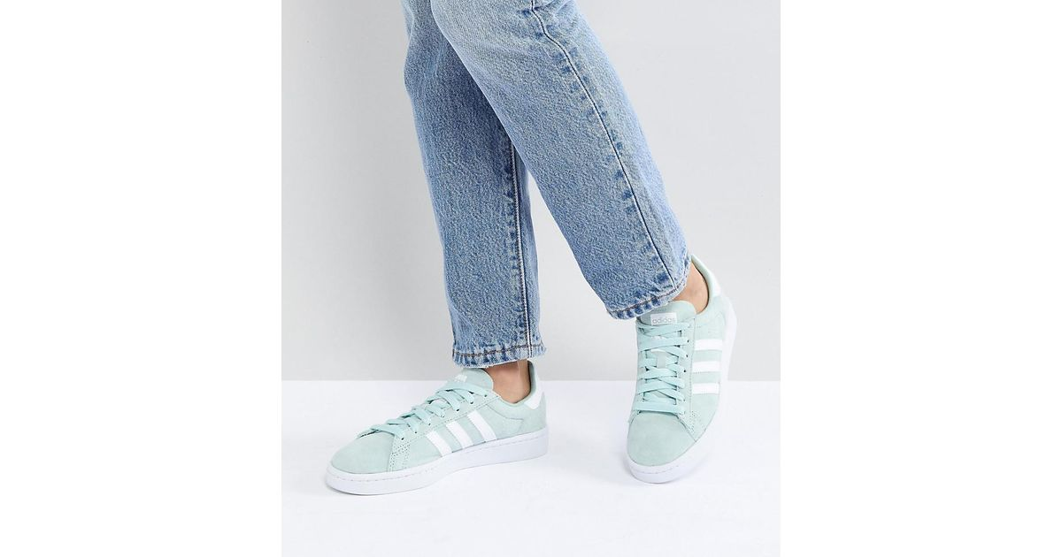 4f1dc4b81de4 adidas Originals Campus Trainers In Mint in Green - Lyst
