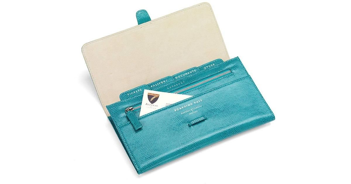 7de92a2d8b26 Lyst - Aspinal Classic Travel Wallet in Blue