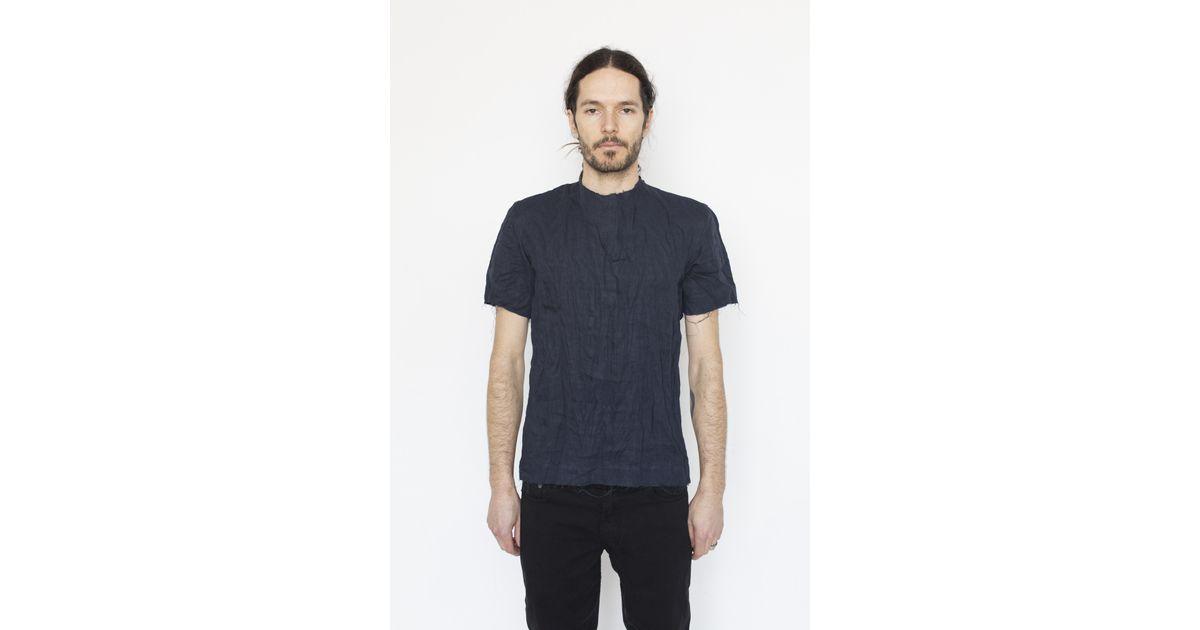 matthew miller linen chuck t shirt in blue for lyst