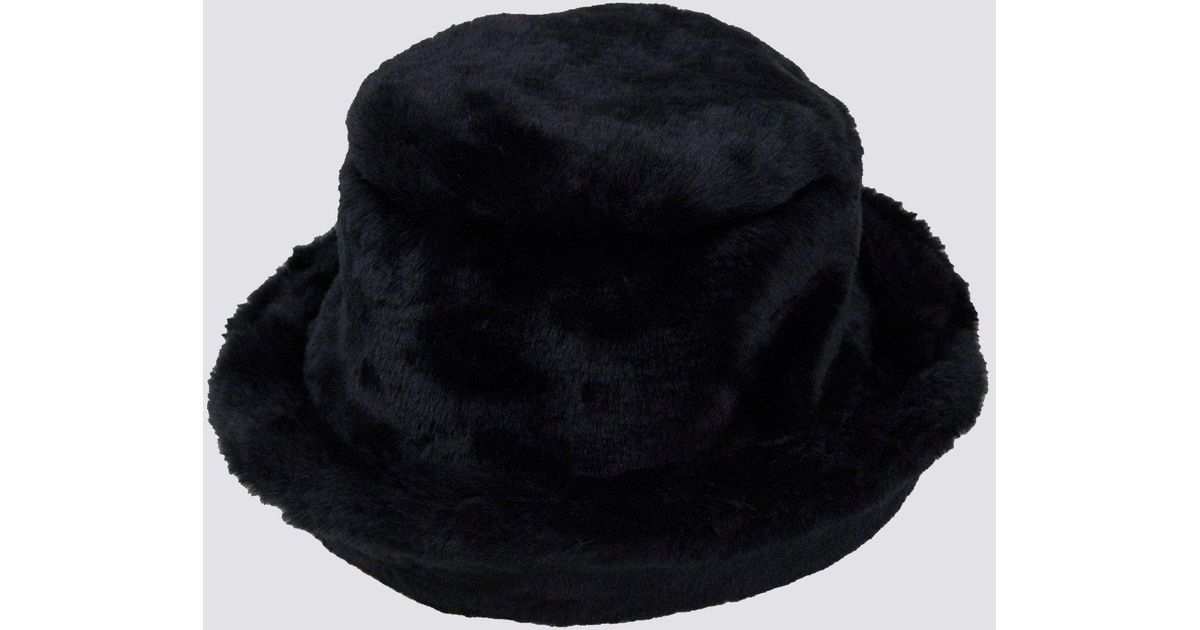 fc2a5214 Clyde Black Fur Bucket Hat in Black - Lyst