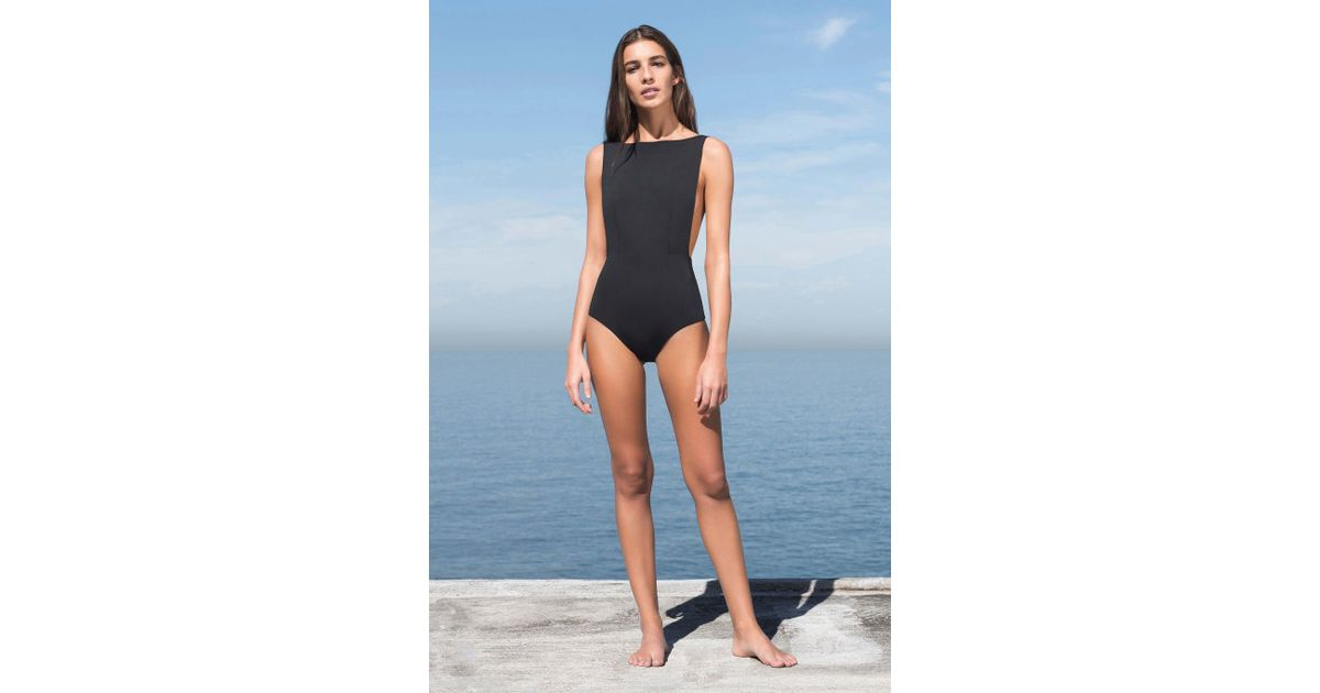 2bc999472a Lyst - Haight Side Slit Maillot One Piece in Blue