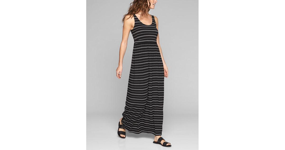 895a3df044 Athleta Striped Maxi Dress in Black - Lyst
