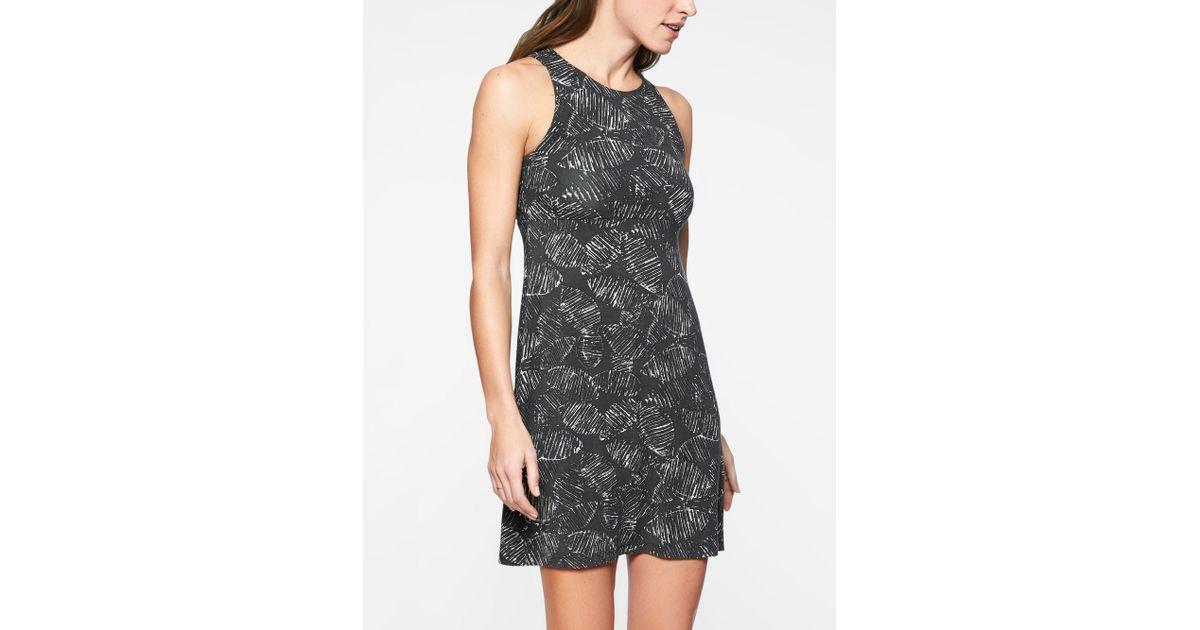 b4bc2be6ad86d Athleta Santorini Printed High Neck Dress in Black - Lyst