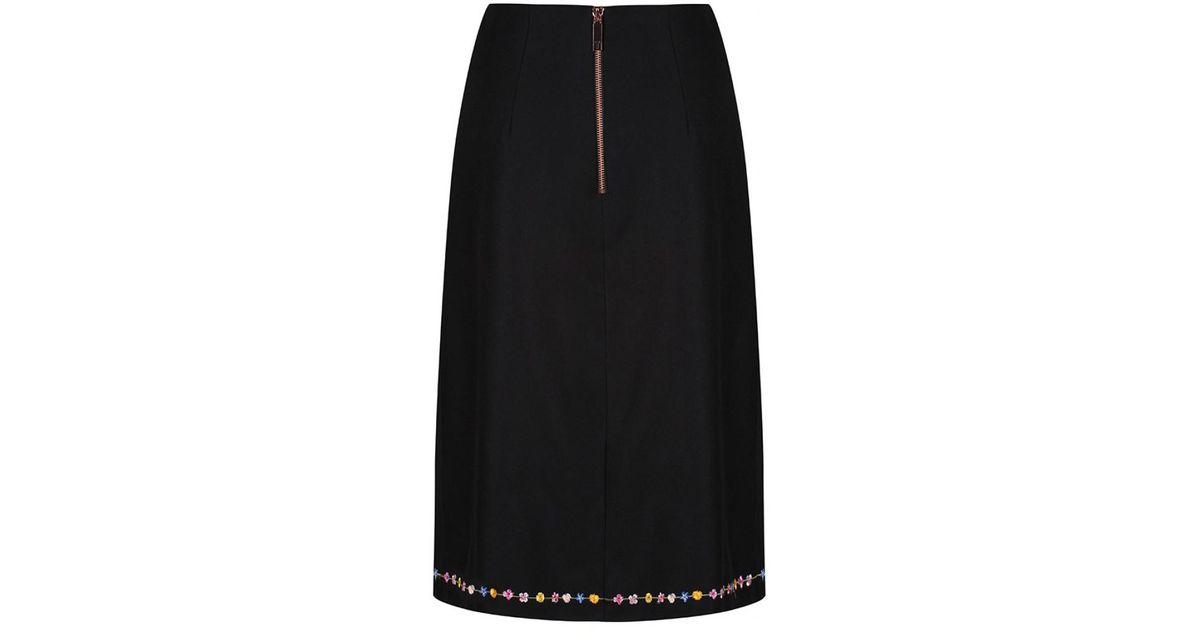 7c1061e9aaaea Lyst - Ted Baker Women's Vicks Hampton Print A-line Skirt in Black