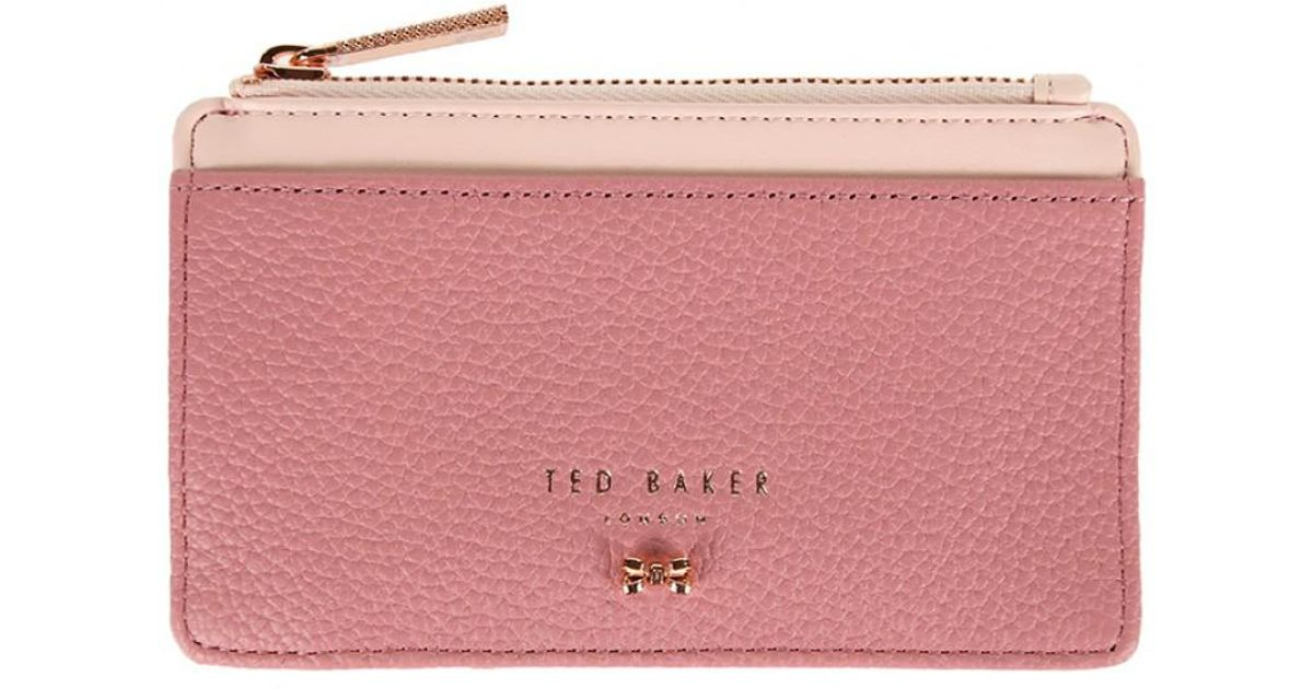 ba65a3842c2ae Lyst - Ted Baker Women s Alica Zipped Card Holder in Pink