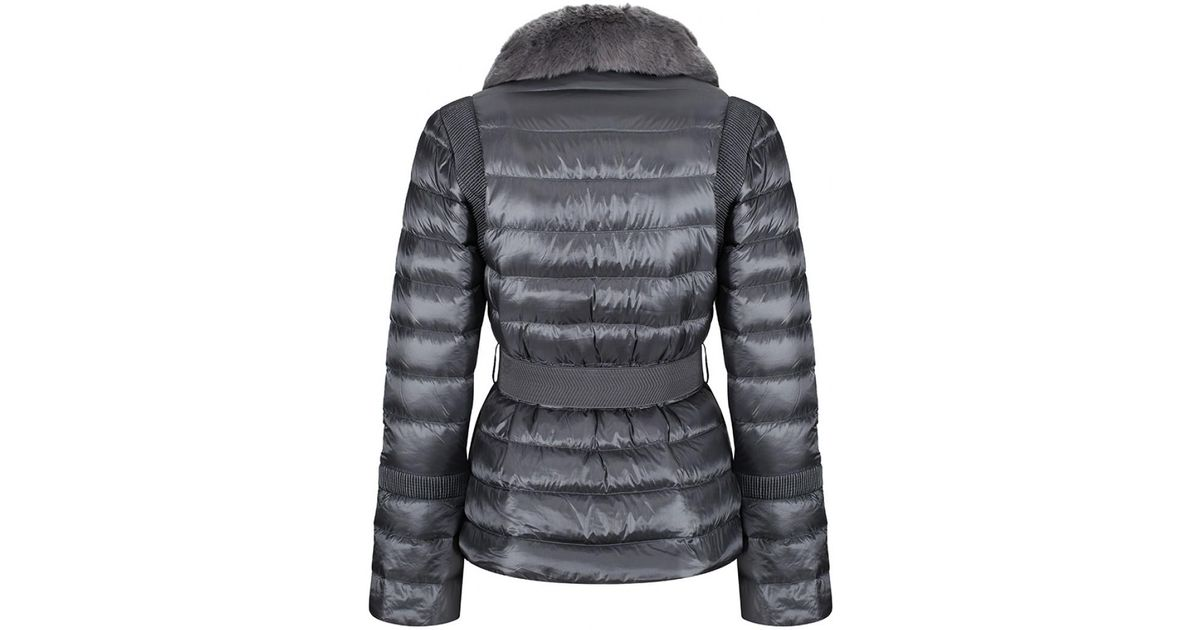 792cb3d8dcc9 Ted Baker Yelta Quilted Down Jacket in Gray - Lyst