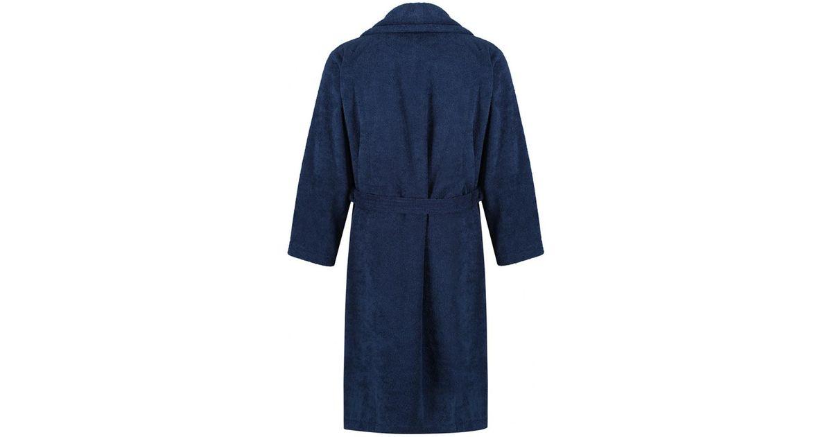 Lyst - Gant Men\'s Terry Robe Dressing Gown in Blue for Men