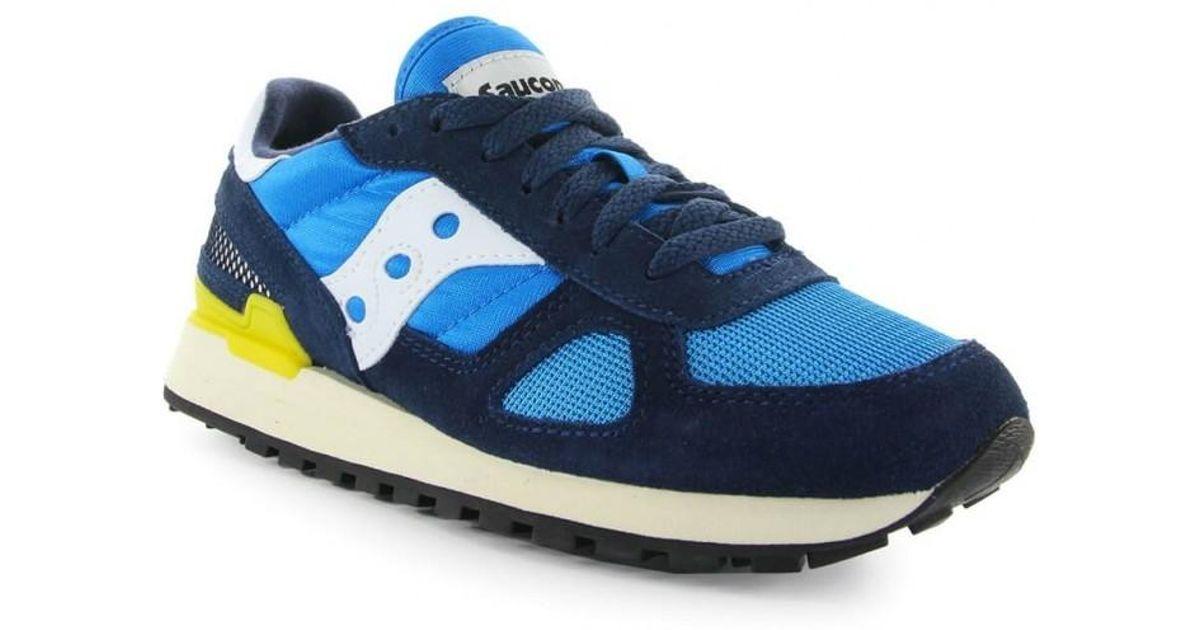 Yellow Originals In Shadow Vintage Navy Blue Sneaker Saucony Ybv76gyf